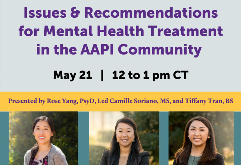 Menninger Clinic | Mental Health Treatment in AAPI Community to be Focus of Upcoming Webinar